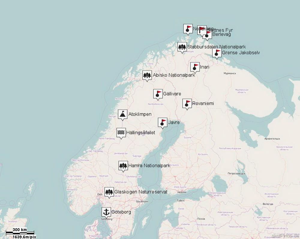 Nord-Skandinavien 2015 - Route