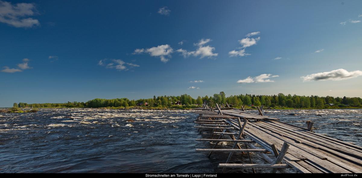 Stromschnellen am Torneälv