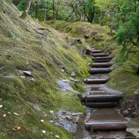 Treppenweg am Ginkaku-ji