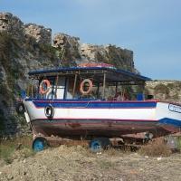 Fischerboot in Methoni