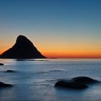 Sunset at the beach of Bleik