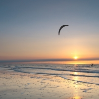 Surfin into the sun