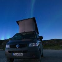 Nordlicht an der Beringssee