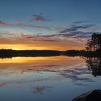 Sonnenuntergang im Glaskogen Naturreservat