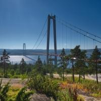 """Högakustenbron, die """"Golden Gate Bridge"""" von Schweden"""