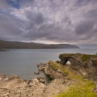 Kirkeporten und der Nordkappfelsen