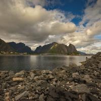 Blick auf Hamnøya