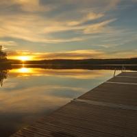 An einem einsamen See im Jämtland