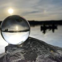 Paddeln in der Glaskugel